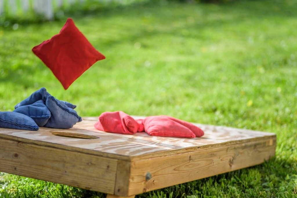 Cornhole throwing pillow