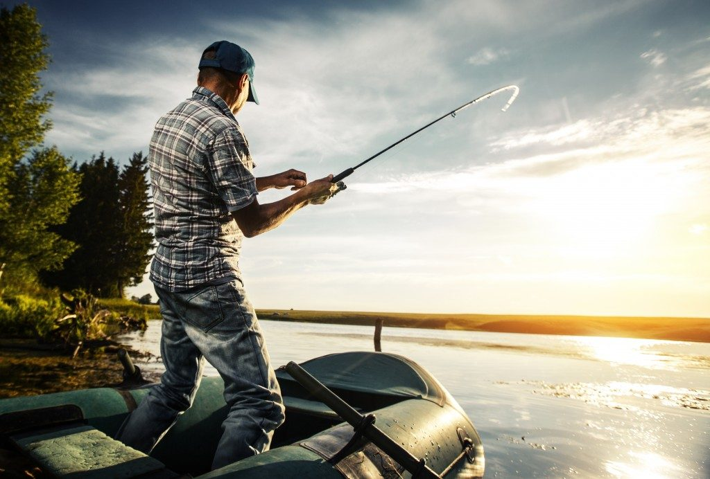 Man fishing from the boat